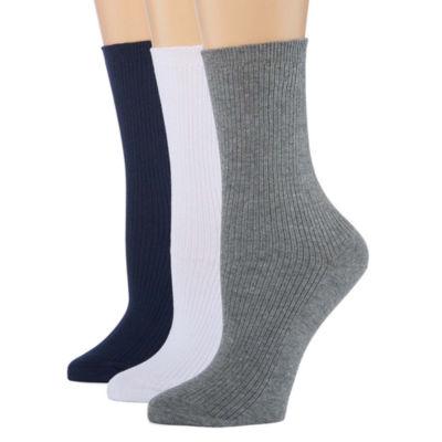 Berkshire 3 Pair Non Binding Crew Socks - Womens