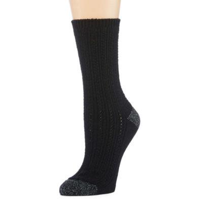 1Pr Cuddl Duds Crew Boot Socks - Womens