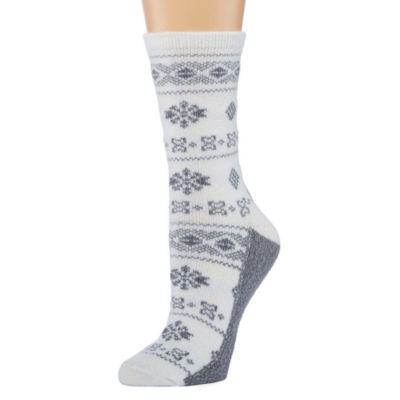 1Pr Cuddl Duds Crew Boot Socks- Womens