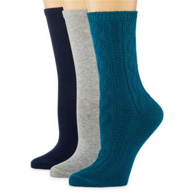 Mixit 3-pc. Crew Socks - Womens
