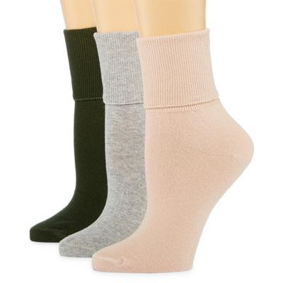 Mixit 3 Pair Mary Jane Socks - Womens