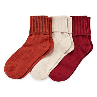 Mixit 3-pc. Turncuff Socks - Womens