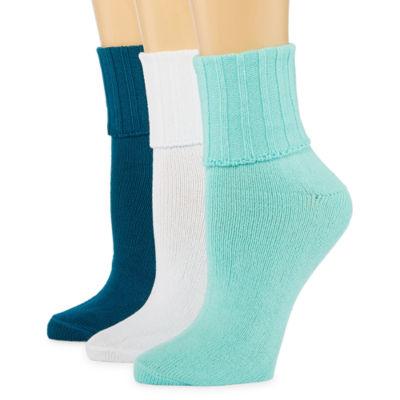 Mixit 3 Pair Turncuff Socks - Womens