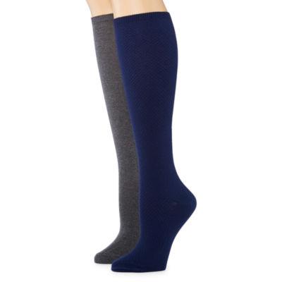 Mixit 2 Pair Knee High Socks - Womens