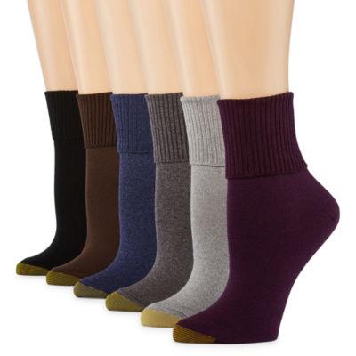 Gold Toe 6 Pair Turncuff Socks - Womens