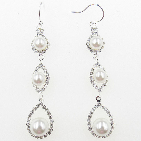 Vieste Rosa 1 Pair Simulated Pearl Drop Earrings