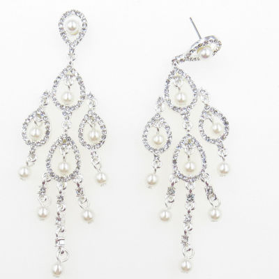 Vieste Rosa Brass Chandelier Earrings