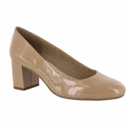 Easy Street Womens Proper Pumps Round Toe Block Heel