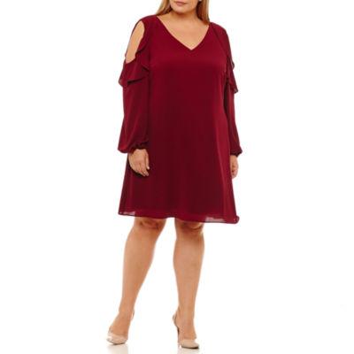 R & K Originals Long Sleeve Sheath Dress - Plus