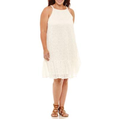 Luxology Sleeveless Shift Dress-Plus