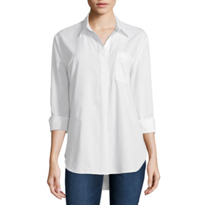 Liz Claiborne Long Sleeve Tunic Top - Tall