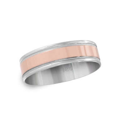 Mens 6MM 14K Gold Wedding Band