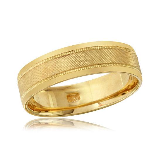 6MM 10K Gold Wedding Band