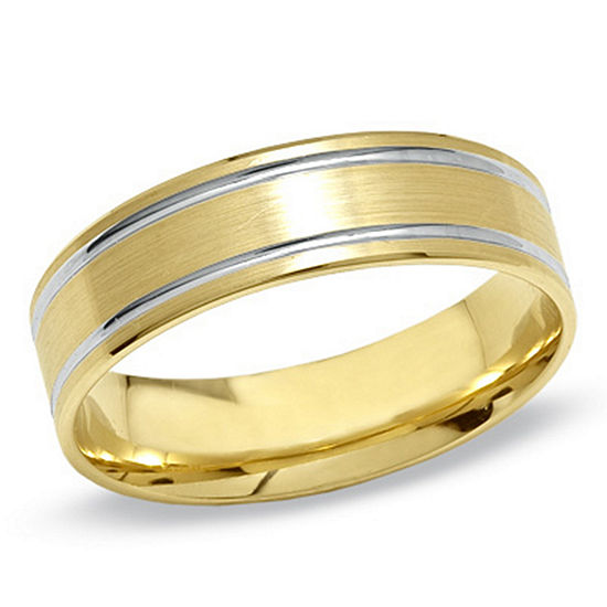 Mens 6MM 10K Gold Wedding Band