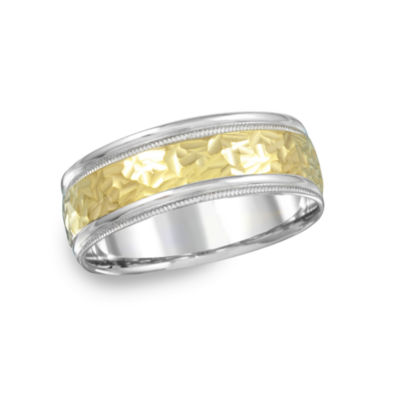 Mens 8mm 14K Gold Band