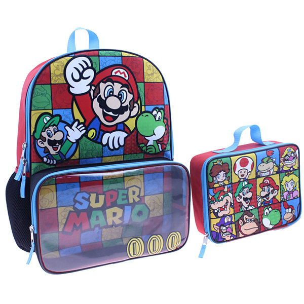 Mario Backpack with Lunch Box