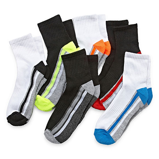 Xersion Boys 6 Pack Quarter Socks