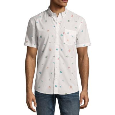 Levi's Short Sleeve Pattern Button-Front Shirt