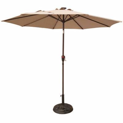 Outdoor Oasis 9ft LED Cranktilt Market Patio Umbrella