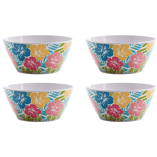 Outdoor Oasis Melamine 4-pc. Cereal Bowl