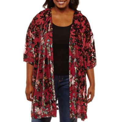Arizona Velvet Kimono- Juniors Plus