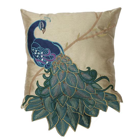 Thro by Marlo Lorenz Fancy Peacock Throw Pillow