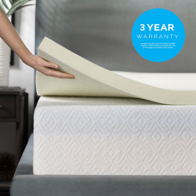 Lucid 2 Inch Memory Foam Mattress Topper