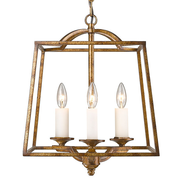 Athena 3-Light Pendant in Grecian Gold Incandescent