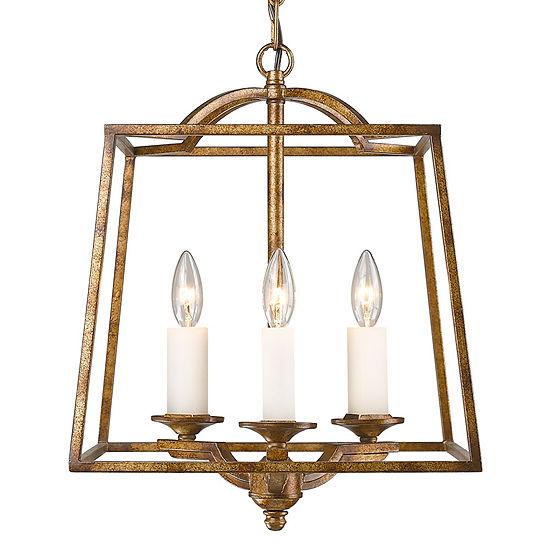 Athena 3-Light Pendant in Grecian Gold Incandescent