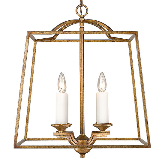 Athena 4-Light Pendant in Grecian Gold Incandescent