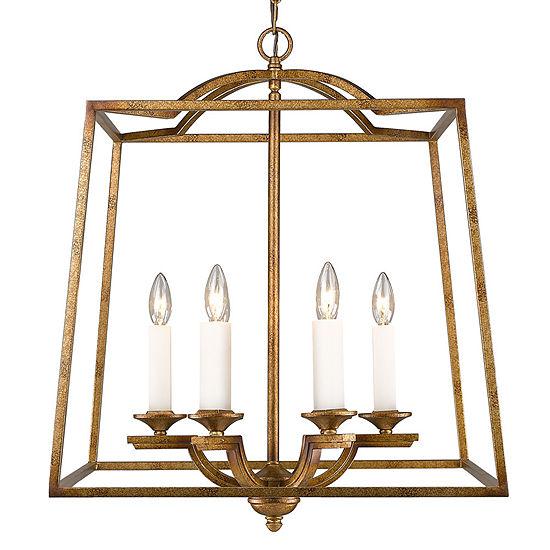 Athena 6 Light Pendant In Grecian Gold Incandescent