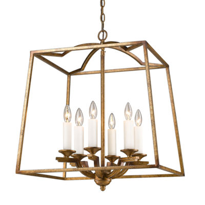 Athena 6-Light Pendant in Grecian Gold Incandescent