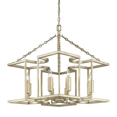 Bellare 8-Light Chandelier in White Gold