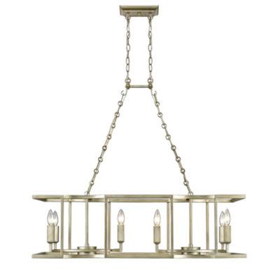 Bellare 8-Light Linear Pendant in White Gold