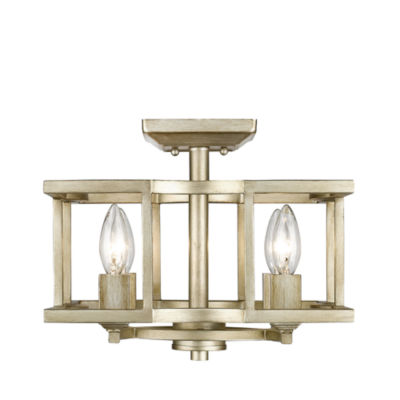 Bellare Convertible Semi-Flush in White Gold
