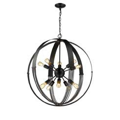 Carter 10-Light Pendant in Aged Bronze