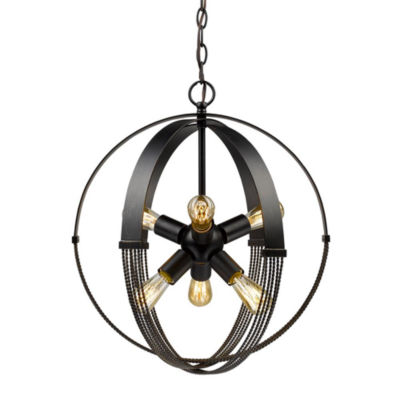 Carter 6-Light Pendant in Aged Bronze
