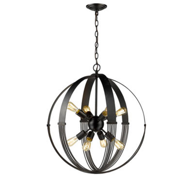Carter 8-Light Pendant in Aged Bronze