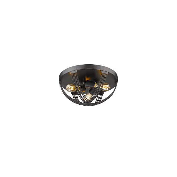 Carter Flush Mount in Aged Bronze