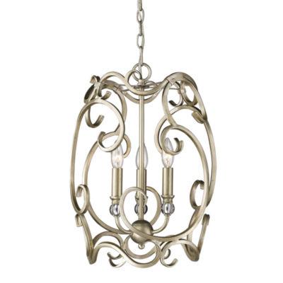 Colette 3-Light Pendant in White Gold