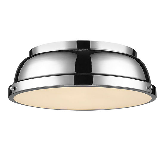 "Duncan 14"" Flush Mount in Chrome"""