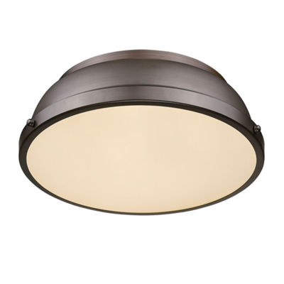 "Duncan 14"" Flush Mount in Rubbed Bronze"""