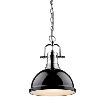 Duncan 1-Light Pendant with Chain in Chrome