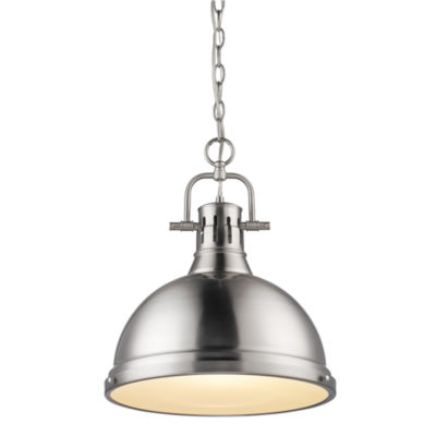 Duncan 1-Light Pendant with Chain in Pewter