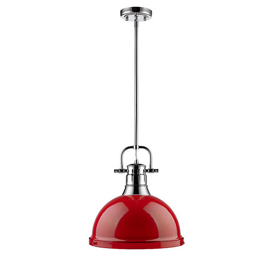 Duncan 1-Light Pendant with Rod in Chrome
