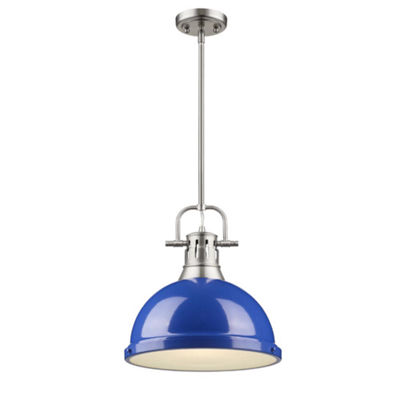 Duncan 1-Light Pendant with Rod in Pewter