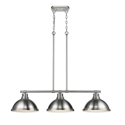 Duncan 3-Light Linear Pendant in Pewter