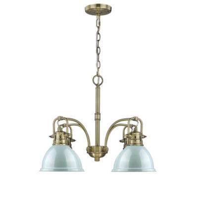 Duncan 4-Light Nook Chandelier in Aged Brass