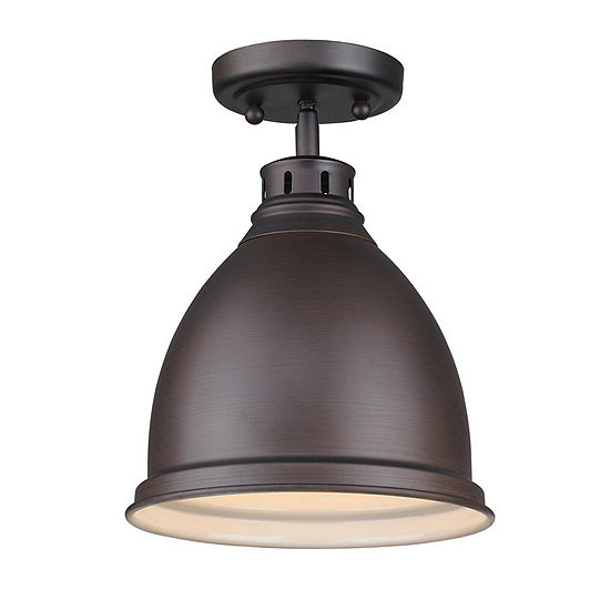 Duncan Flush Mount in Rubbed Bronze