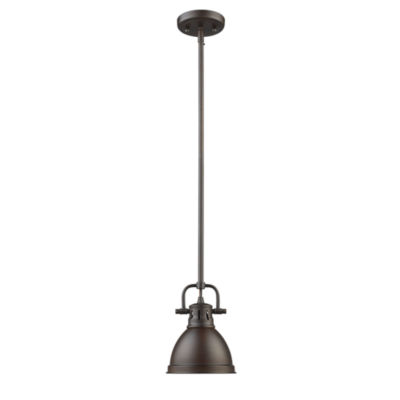 Duncan Mini Pendant with Rod in Rubbed Bronze